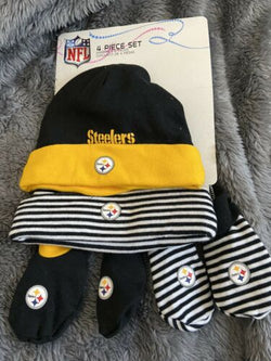 Baby Official Steeler Booties And Caps 0 To 9 Months