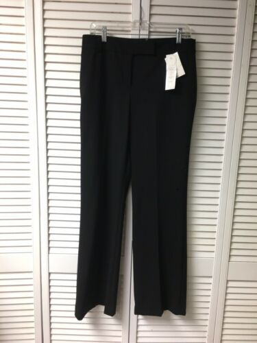 "Charter Club Black Trouser Pants Classic Fit Tummy Slimming Womens 33"" Waist NWT"