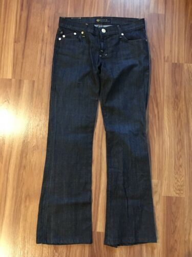 Rock Republic Women's Size 29 Dark Blue Denim Jeans W Decorated Back Pockets