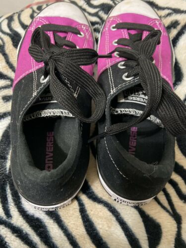 Converse Pink Black All StR Converse Sneaker Shoe Sz 4