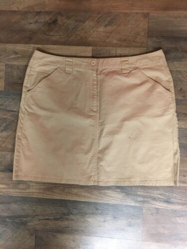 Talbots Women's Size 18 Beige Khaki Skirt Stretch With Pockets