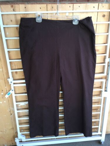 The Limited Women's Size 12 Brown Patterned Capri Pants Stretch W/ Side Zipper