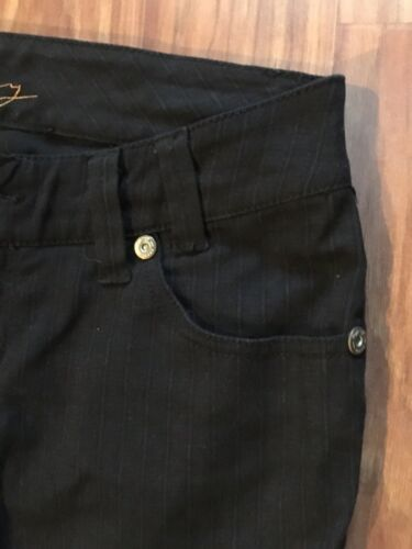 High Way Women's Size 7 Black Pants Jean Style W/ Zipper, Button And Pockets