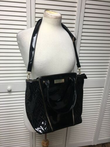 Pia Rossini Black Purse Handbag W/ Adjustable/Removable Shoulder Strap