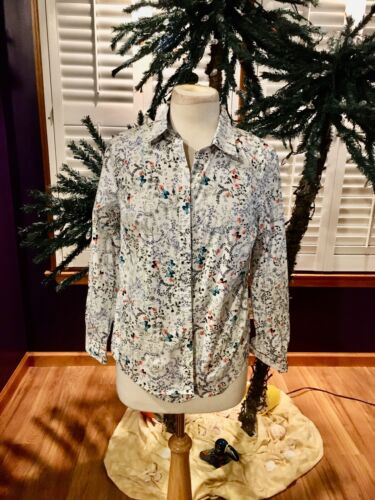 Charter Club Shirt Shop Petite Women's Size 6P Long Sleeve Button Down Blouse