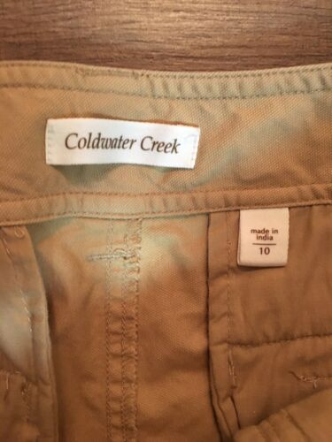 Coldwater Creek Women's Size 10 Beige Capri Pants With Pockets