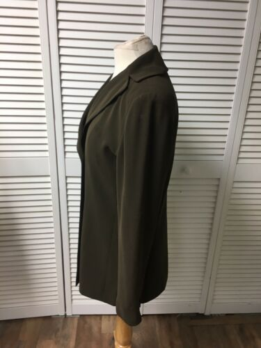 Tahari Women's Size 8 Green Jacket Long Sleeves With Buttons