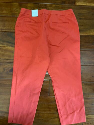 Women's Chico's Crop Pant The Ultimate Fit Dark Orange Sz 2 New With Tag