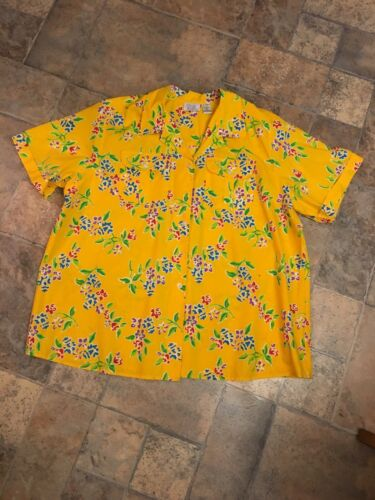 Only Necessities Men's Size B2 Short Sleeve Button Down Hawaiian Shirt W/ Collar