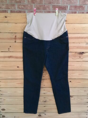 The Loft Women's Size 14 Maternity Stretch Top Jeans Denim Blue Jean W/ Pockets