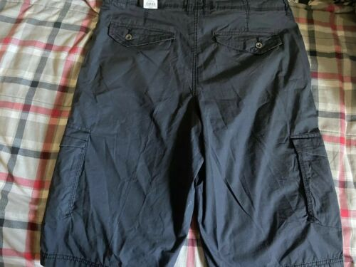 Mens Helix Black Cargo Shorts Sz34