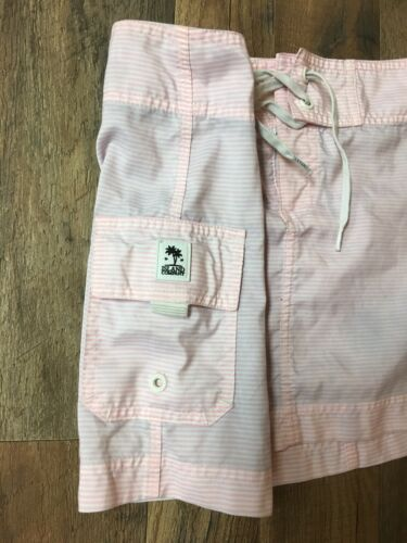 Island Company Women's Size Medium Pink/White Stripes Skirt W/ Pocket