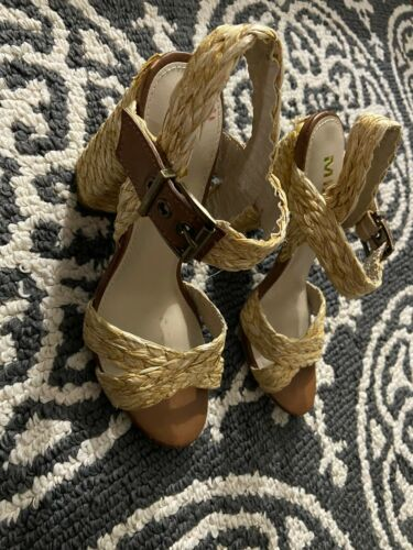 Womens Mia Rope Shoes With Heel Sz 6.5