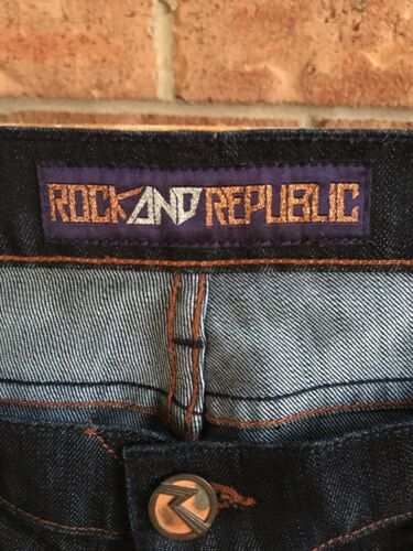 "Rock And Republic Women's Size 27 Denim Blue Jeans 30"" Waist"