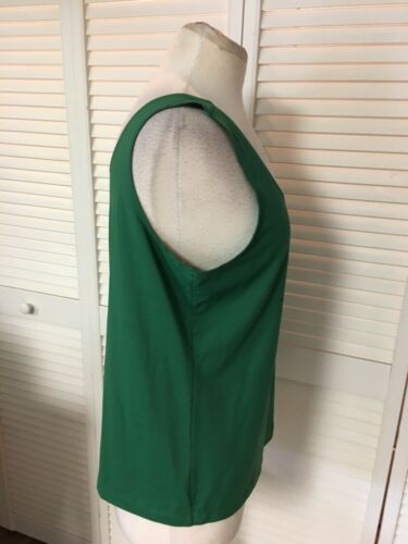 Chico's Size 2 Women's Solid Green Tank Top