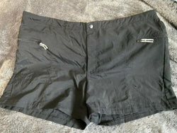 Women's Nike Shorts Black Zip Front Sz XL