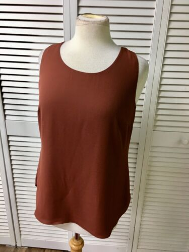 Chicos Size 0 Women's Reversible Tank Top Brown And Beige NWT