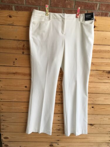 New York And Company Women's Size 12 White Dress Pants Stretch NWT