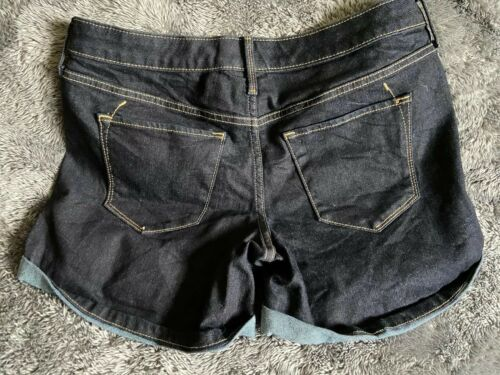 Women's Mossimo Jean Shorts Dark Blue Mid Rise Sz 6