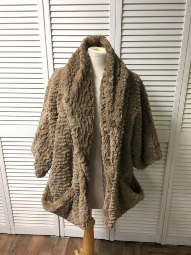 Jolt Women's Size XL Soft Furry Coat Open Front With Pockets