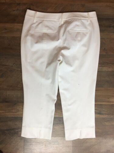 White House Black Market Women's Size 10 Straight Crop White Pants Capris