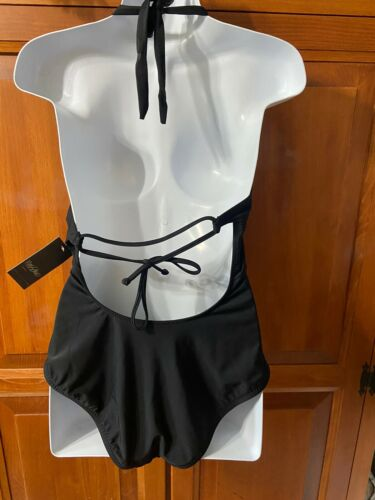 Women's Mossimo One Piece Swimsuit Black & White Sz S
