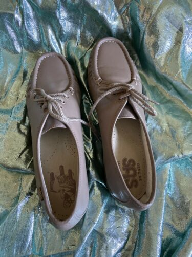 Sas Siesta Womans Comfort Shoes Sz 9 Mocha Tan Leather
