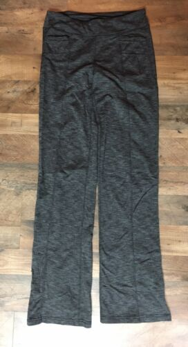 Athleta Women's Size MT Grey Athletic Yoga Pants Boot Cut With Pockets
