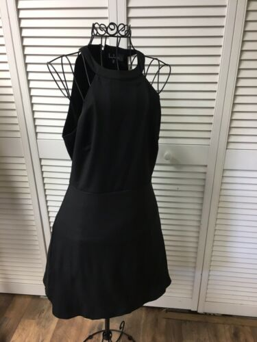 Lulus Dress Junior's Size Medium Solid Black Sleeveless W/ Zipper Back