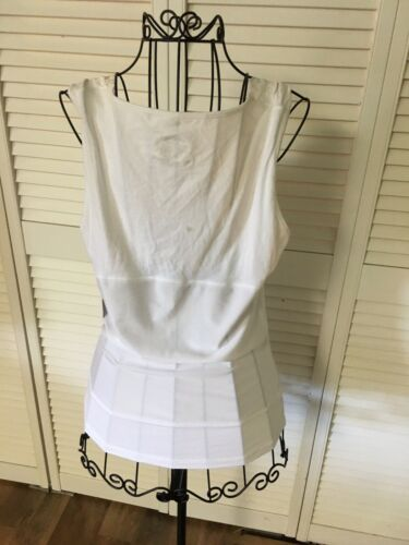 Jockey Juniors Size XL White Lace Trim Tank Tummie Tummie Body Shaping Tank NWT