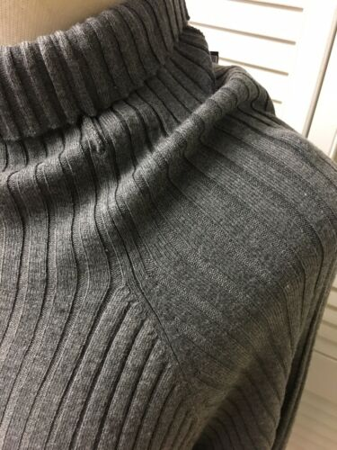 International Concepts Women's Size 2X Grey Turtleneck Long Sleeve Sweater NWT