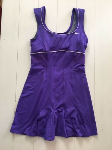 Nike Dri-fit Women's Sz M Purple Athletic Dress W/ Built In Bra