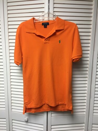 Polo Ralph Lauren Youth Boys Size XL Orange Polo Shirt Short Sleeves With Collar