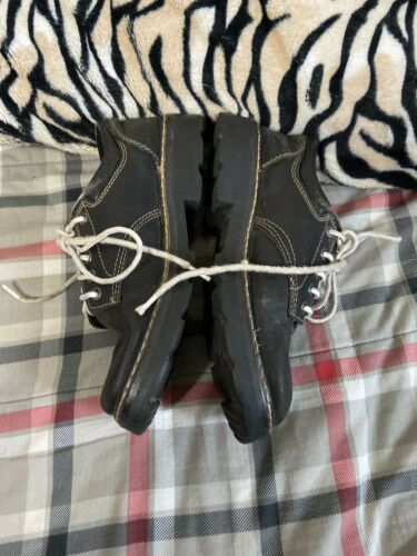 Womens Skechers Black Leather Heavy Duty Work Shoes Sz 8