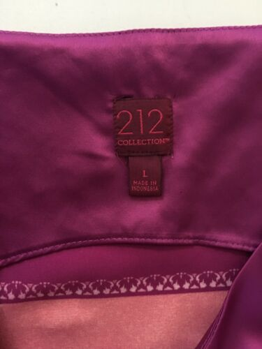 212 Collection Pink Silky Blouse Women's Sz L Sleeveless