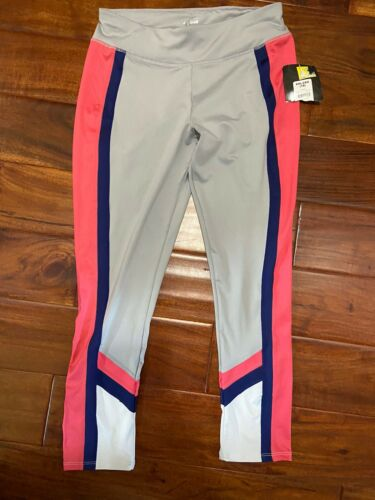 Jr Gray Pink Blue Yoga Avia Running Pants Sz18