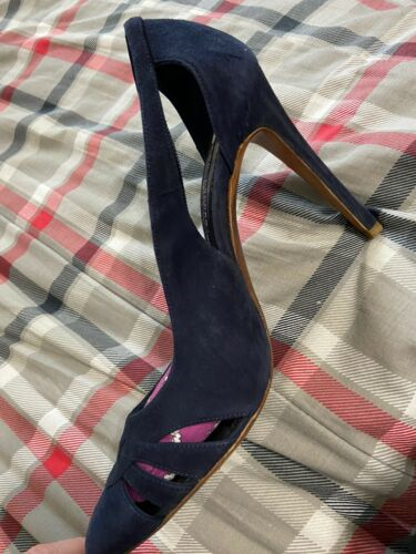 Womens Ralph Lauren Collection Navy Blue Suede Pumps Sz8.5