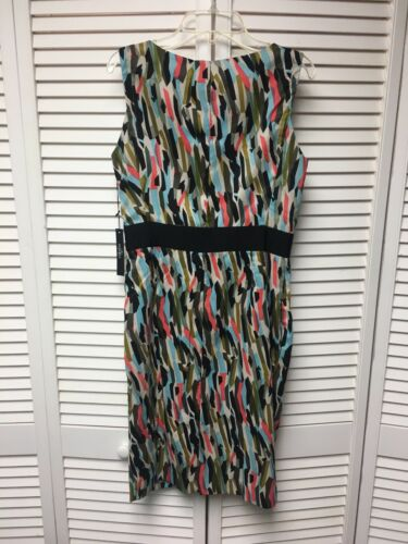 Vertigo Women's Size XS Multicolor Sleeveless Dress W/ Side Zipper NWT