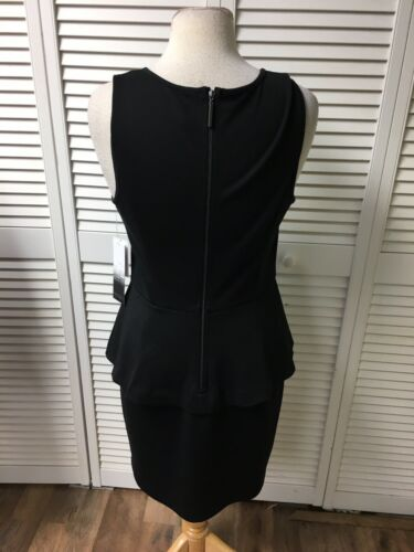 Kensie Women's Size Medium Black Business Casual Dress W/ Peplum Style Waist NWT
