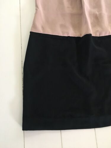 NEW Gap Women's Size 2 Sleeeveless Knee Length Dress Beige Top Black Bottom NWT
