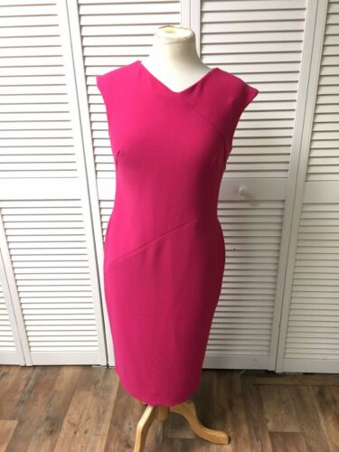 Jones New York Women's Sz 6 Pink Dress Sleeveless W/ Full Length Zipper In Back