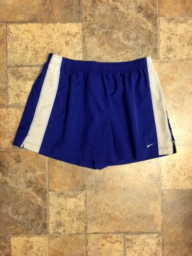 Nike Women's Size Large 12-14 Blue Athletic Shorts W/ Elastic Waist