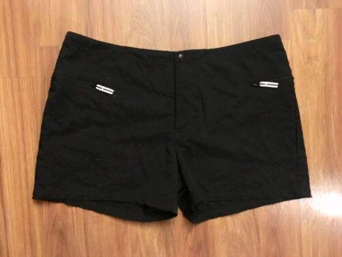 Nike Women's Size XL 16/19 Black Shorts W/ Zipper Pockets