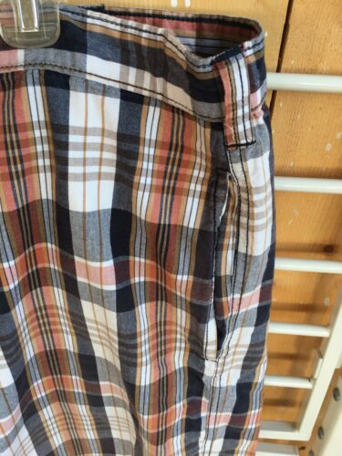 Perry Ellis America Mens Size 42W Plaid Shorts With Pockets