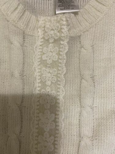 Girls Bluebar Boulevard Ivory Ruffled Sweater Dress Sz 6T