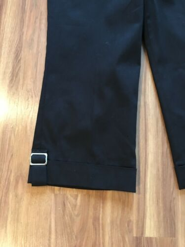 Dress Barn Women's Size 12 Black Capris W/ Buckle Accents NWT