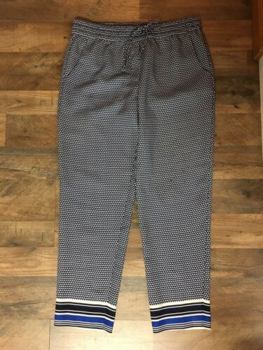 J. Crew Women's Size 8 Pants Pattern W/ Elastic Drawstrig Waist And Pockets