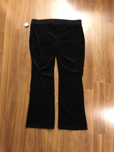 Motherhood Maternity Women's Size XL Black Pants Velvet Like Feel NWT