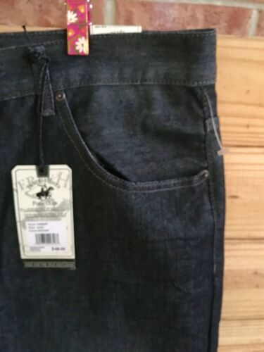 Beverly Hills Polo Club Denim Blue Jeans Mens Sz 42/30 Relaxed Straight Fit NWT