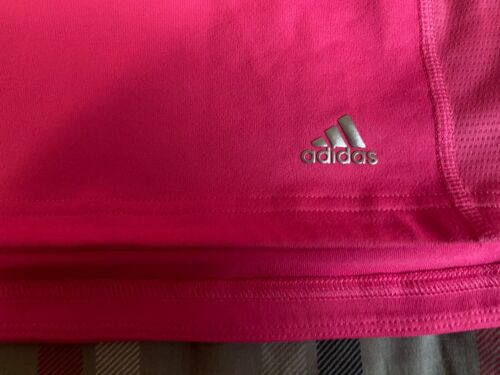 Womens Hot Pink Adidas Running Jacket 1/4 Zip Orange Sz L
